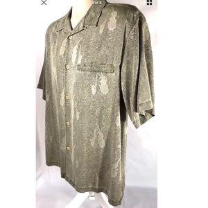 Ltd Ed NAT NAST Green M Silk Button Front Shirt